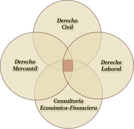 Esquema Áreas de Actuación García Beltrán, Advocats i Economistes